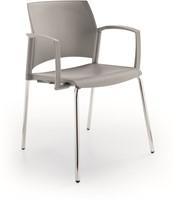A580 - stevige kunststof kantine / school stoel met armleggers