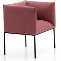 Sharp-4P 866 - strak vormgegeven fauteuil / stoel met elegante pootjes en dikke stoffering