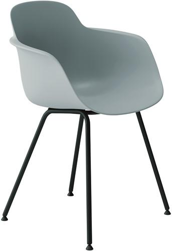 Sicla - vierpootsstoel, frame ronde buis, kunststof kuip