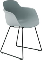 Sicla SL - sledeframe stoel, kunststof kuip