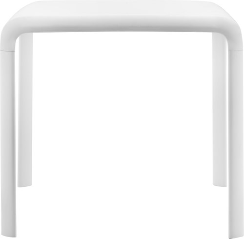 Snow 301 Tafel - blad Polypropyleen wit, poten aluminium gelakt wit