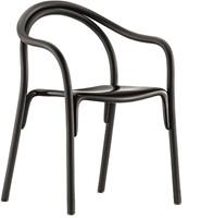Soul 3745 - Gebogen houten stoel met kunststof zitting