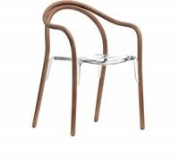 Soul 3745 - Gebogen houten stoel met kunststof zitting-2
