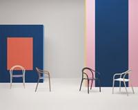 Soul 3745 - Gebogen houten stoel met kunststof zitting-3