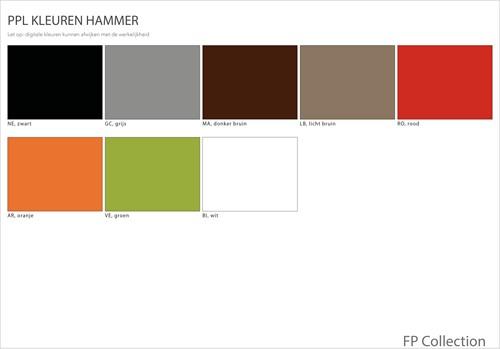 Hammer - Stoel met een kunststof zitschaal en een metalen frame-3