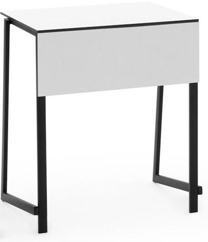 Staq tafel - Stapelbare studententafel met wit HPL blad