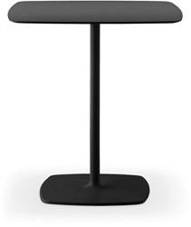 Stylus 73 Tafel - fraaie kolompoot tafel, dunne kolom, rond of vierkant blad met verjongde rand