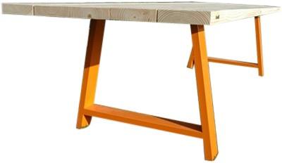 Woedz d tafel robuust houten tafel met gecoate poten bij fp