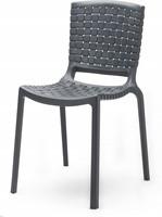 Tatami 305 - lichtgewicht stevige, UV-bestendige terrasstoel met kunststof gevlochten zitting