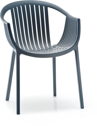 Tatami 306 - lichtgewicht stevige UV-bestendige terrasstoel met armleggers, stapelbaar