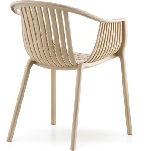 Tatami 306 - lichtgewicht stevige UV-bestendige terrasstoel met armleggers, stapelbaar-2