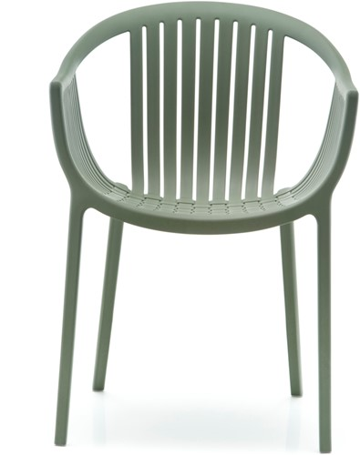 Tatami 306 - lichtgewicht stevige UV-bestendige terrasstoel met armleggers, stapelbaar-3