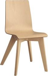 Tess Wood - design stoel met houten, hpl of Fenix zitschaal en houten poten