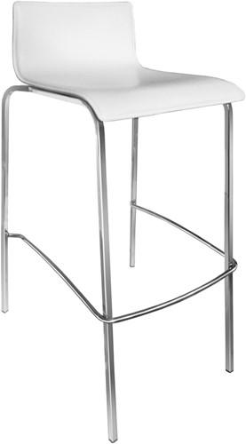 Tess Kruk frame 15x15mm - kantine kruk met houten, hpl of Fenix zitschaal en vierkant buisframe