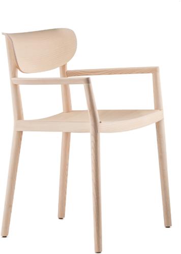 Tivoli 2805 - klassieke houten design armstoel in moderne uitvoering met armleggers