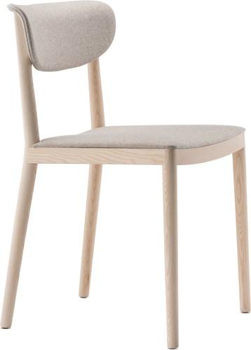 Tivoli Stoel 2801 - klassieke houten design stoel in moderne uitvoering met een gestoffeerde zitting en rug