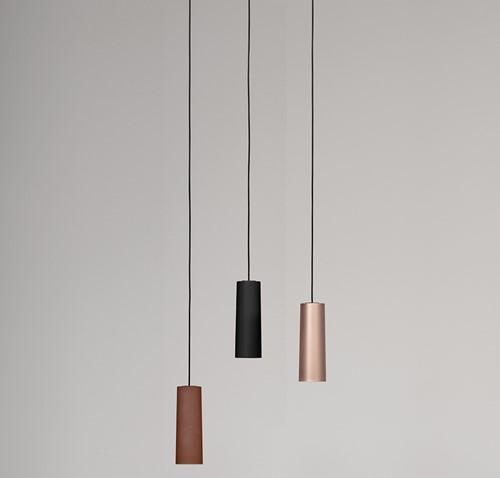 TO.BE L006S/A hanglamp - kleine hanglamp met mat afgewerkte kunststof kap
