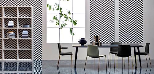Babila Tafel - tafel met dun volkern blad en houten poten in scandinavische style -2