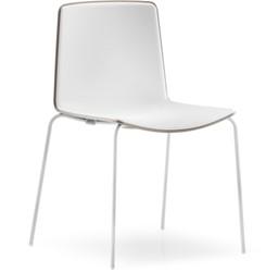 Tweet 890 - strak vormgegeven moderne kunststof stoel met 2-kleurige zitschaal