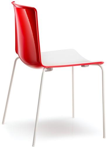 Tweet 890 - strak vormgegeven moderne kunststof stoel met 2-kleurige zitschaal-3