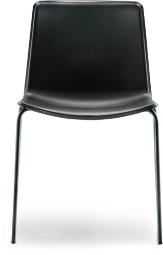 Tweet 890 - strak vormgegeven moderne kunststof stoel met 2-kleurige zitschaal-2