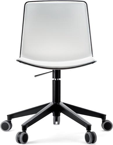 Tweet 891 - strak vormgegeven moderne kunststof bureaustoel met 2-kleurige zitschaal