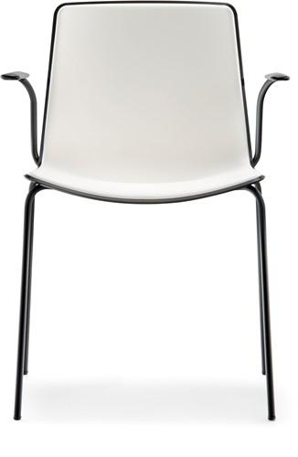 Tweet 895 - moderne kunststof armstoel met 1 of 2-kleurige zitschaal-3