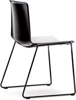 Tweet 897 - strak vormgegeven moderne kunststof sledeframe stoel met 2-kleurige zitschaal-2