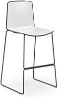 Tweet 899 - moderne kunststof sledeframe kruk met 2-kleurige zitschaal