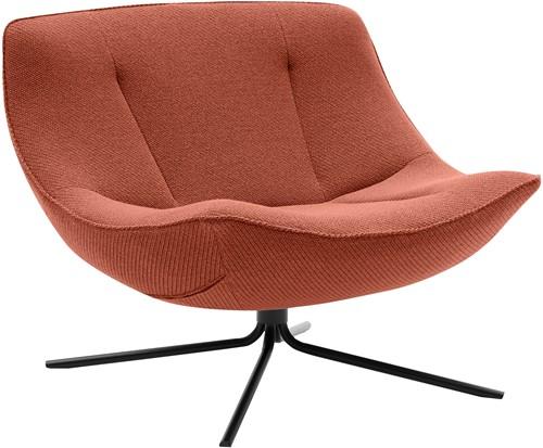 Vera - gestoffeerde lounge fauteuil, draaibaar