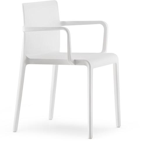 Volt 675 - geheel kunststof kantine / outdoor stoel met doorlopende armleggers-3