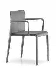 Volt 675 - geheel kunststof kantine / outdoor stoel met doorlopende armleggers