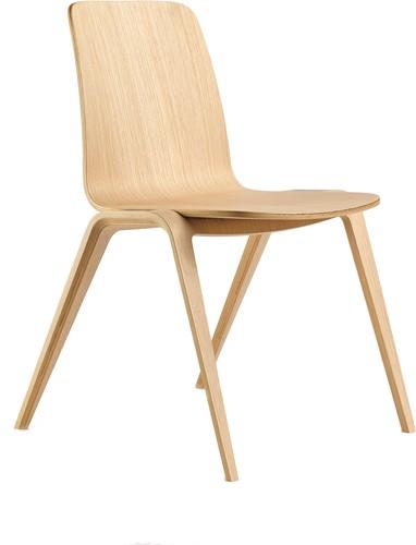 Woodstock met dichte rug - geheel houten en verticaal stapelbare stoel
