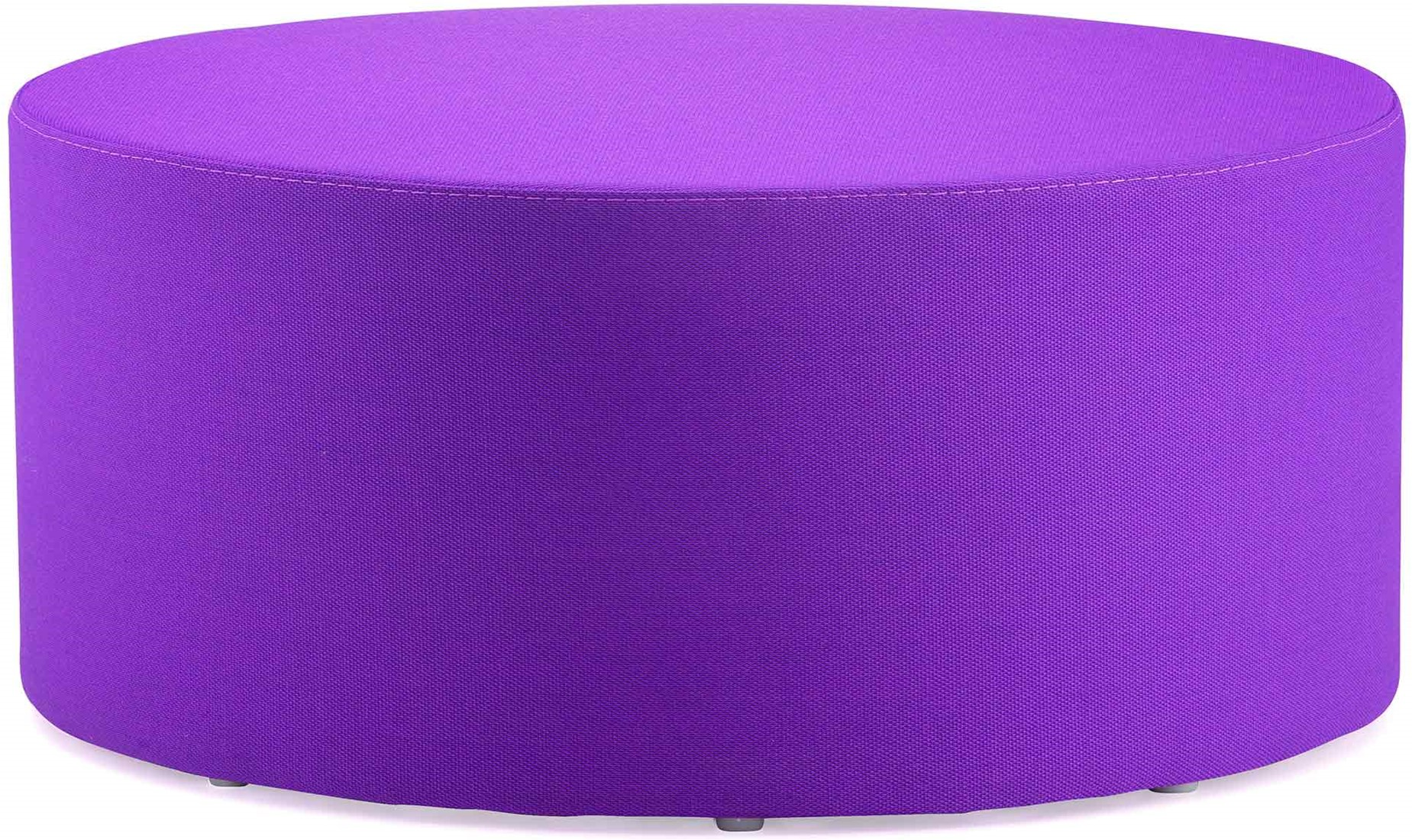Goede Wow 325 - gestoffeerde ronde poef, diameter 85 cm - Kunstleder EC-08