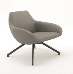 X-Big 2051 Fauteuil - ruime gestoffeerde lounge fauteuil met stalen frame