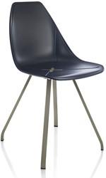 X-Chair 1082 - comfortabele design stoel met unieke X in de zitting en stalen frame
