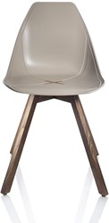 X-Chair 1083 - comfortabele design stoel met unieke X in de zitting en houten poten