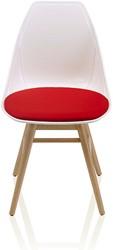 X-Chair 1085 - comfortabele design stoel met uniek kruis in de zitting en conisch beuken houten poten