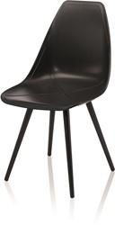 X-Chair 1086 - comfortabele design stoel met unieke X in de zitting en conisch stalen poten