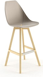 X-Stool 4062 Barkruk - comfortabele design kruk met unieke X in de zitting en houten poten