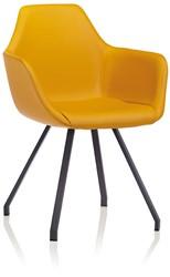 Y-Chair 2091-UPH - gestoffeerde design kuipstoel met stalen poten