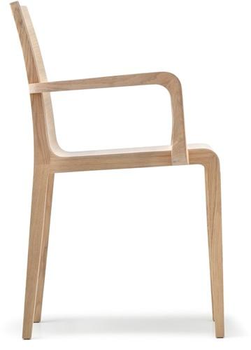Young 425 - geheel houten design stoel met armleggers-2