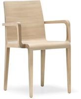 Young 425 - geheel houten design stoel met armleggers