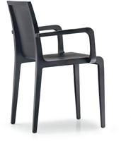 Young 425 - geheel houten design stoel met armleggers-3
