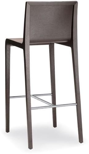 Young 426 - houten design kruk met rvs voetensteun-2