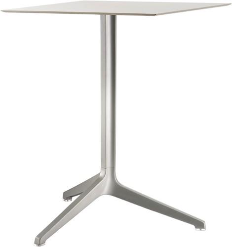 Ypsilon 3_73 Tafel - drie-poot tafel, onderstel aluminium, blad volkern
