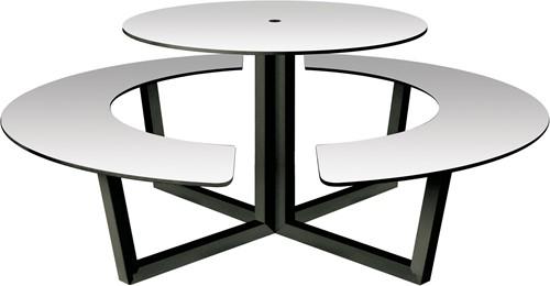 Yuke Round Indoor - Ronde tafel met vaste banken